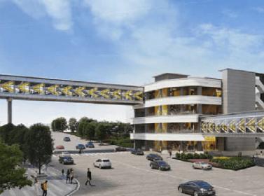 Construction of Qing Mao Port Footbridge